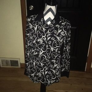 Catherine malandrino for design nation blouse